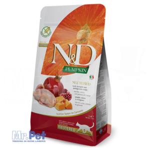 N&D Grain Free Hrana za sterilisasene mačke, bundeva, prepelica i nar