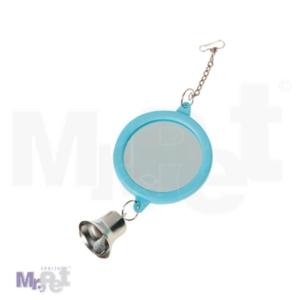 FLAMINGO Igračka za papagaje, okruglo ogledalo + zvono