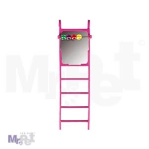 FLAMINGO Igračka penjalica za papagaje, ogledalo + kuglice