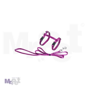 FLAMINGO Am + povodac za mačke  pink 110 cm