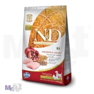 N&D Low Grain Hrana za pse sa prekomernom težinom Mini/Medium Light, Piletina i Nar