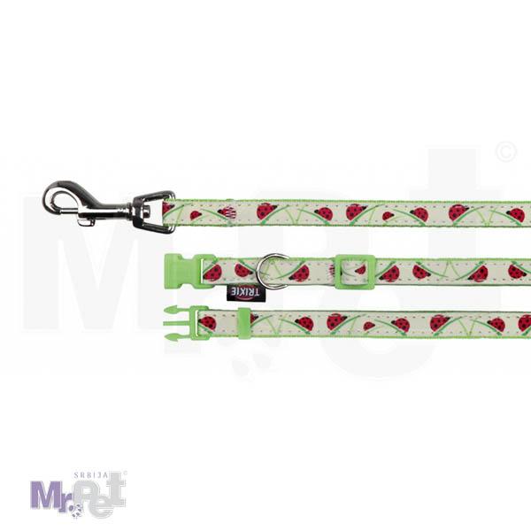 TRIXIE ogrlica + povodac za pse Reflective
