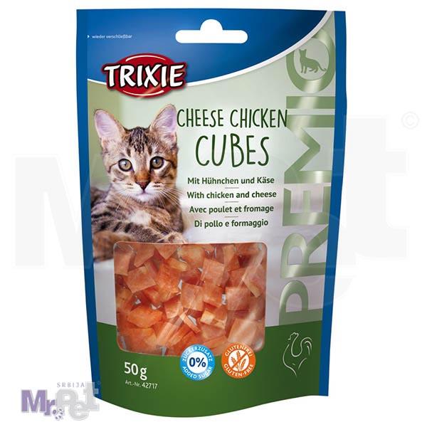 TRIXIE poslastica za mačke Cheese Chicken Cubes
