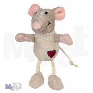 TRIXIE igračka za mačke plišani miš, 11 cm, BEŽ