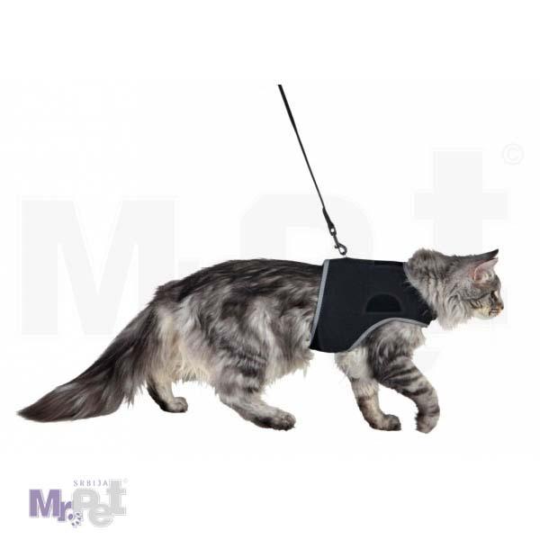 TRIXIE SOFT najlon povodac + am za mačke