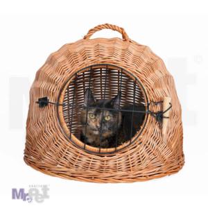 TRIXIE Wicker Cave transporter od pruća za mačke, sa vratima