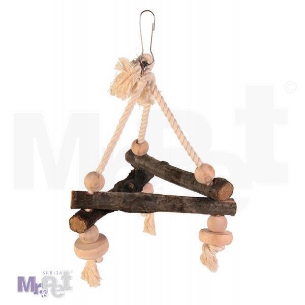 TRIXIE ljuljaška za ptice na kanapu Swing on Rope