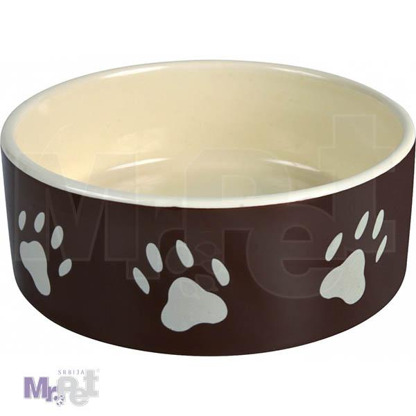 TRIXIE keramička činija za psa BRAON šapa
