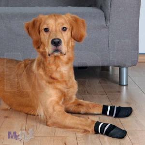 TRIXIE Dog Socks, 2 crne SOKNICE za pse, NON-SLIP