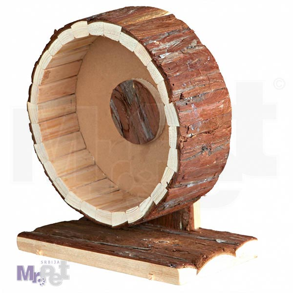 TRIXIE drveni TOČAK za glodare Exercise Wheel