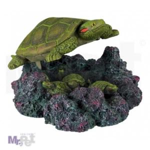 TRIXIE ukras za akvarijum, kornjača sa vazdušnom pumpom 15 cm