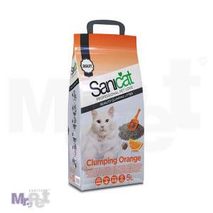 SANICAT pesak za mačji toalet Clumping Orange (bentonit, grudvajući)