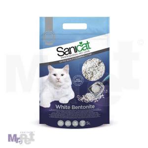 SANICAT pesak za mačji toalet White Bentonite (prirodni beli bentonit, premium kvaliteta, fino grudvajući)