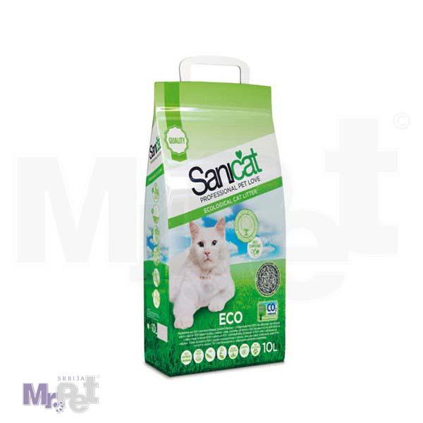 SANICAT pesak za mačji toalet Eco (ekološki posip premium kvaliteta od recikliranog papira)