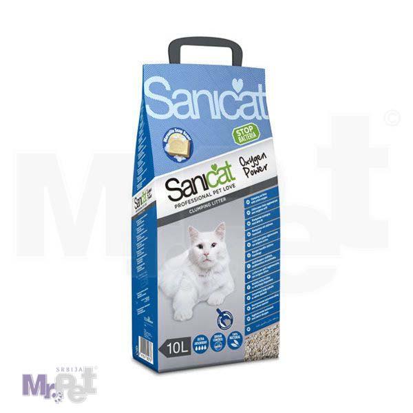 SANICAT pesak za mačji toalet Oxygen power (grudvajući sa aktivnim kiseonikom)