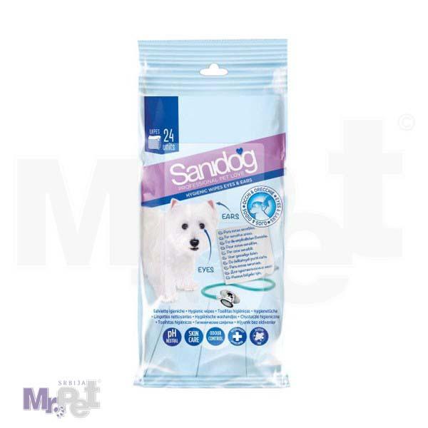 SANIDOG vlažne maramice za oči i uši 24 kom, Hygienic wipes