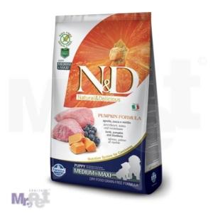 N&D Grain Free Hrana za štence Medium/Maxi Puppy, Bundeva i Jagnjetina