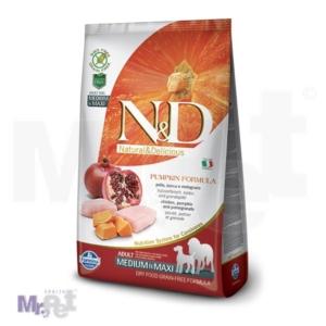 N&D Grain Free Hrana za pse Medium/Maxi Adult, Bundeva i Piletina