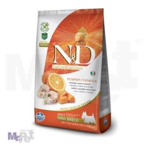 N&D Grain Free Hrana za pse Mini Adult, Bundeva i Bakalar