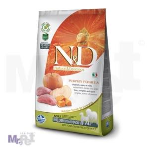 N&D Grain Free Hrana za pse Medium/Maxi Adult, Bundeva i Divlja Svinja