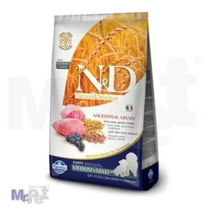 N&D Low Grain Hrana za štence Medium-Maxi Puppy, Jagnjetina i Borovnica