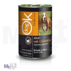 OK PASSION hrana za pse zalogaji u umaku sa piletinom i pačetinom