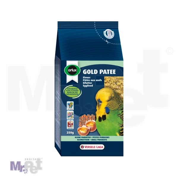 ORLUX hrana za tigrice Gold Patee Small Parakeets