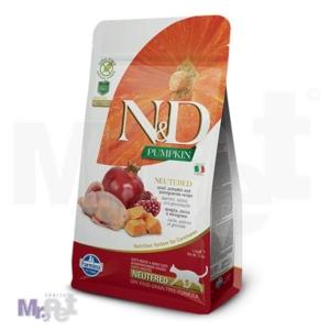N&D Grain Free Hrana za odrasle mačke, Bundeva i Prepelica