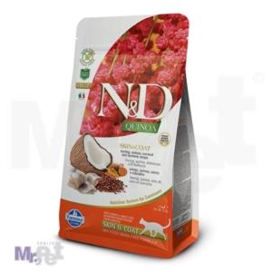 N&D Grain Free Hrana za mačke sa problomatičnom kožom Skin and Coat, Kinoa i Haringa