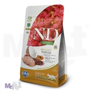N&D Grain Free Hrana za mačke sa problematičnom kožom Skin and Coat, Kinoa i Prepelica
