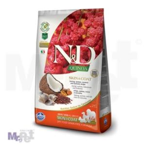 N&D Grain Free Hrana za pse sa problematičnom kožom Skin i Coat, Kinoa i Haringa