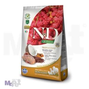 N&D Grain Free Hrana za pse sa problematičnom kožom Skin i Coat, Kinoa i Prepelica