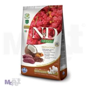 N&D Grain Free Hrana za pse sa problematičnom kožom Skin i Coat, Kinoa i Srnetina