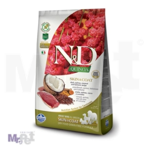 N&D Grain Free Hrana za pse sa problematičnom kožom Skin i Coat, Kinoa i Pačetina