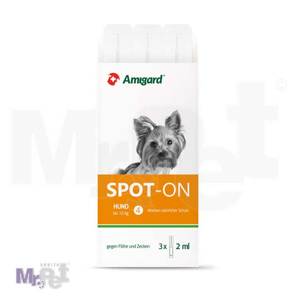 AMIGARD sredstvo protiv buva i krpelja Spot-on 3 ampule za pse ispod 15 kg