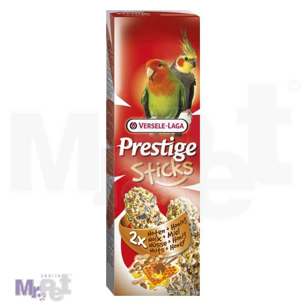 PRESTIGE poslastice za srednje papagaje Sticks Big Parakeets Nuts i Honey - 2 kom