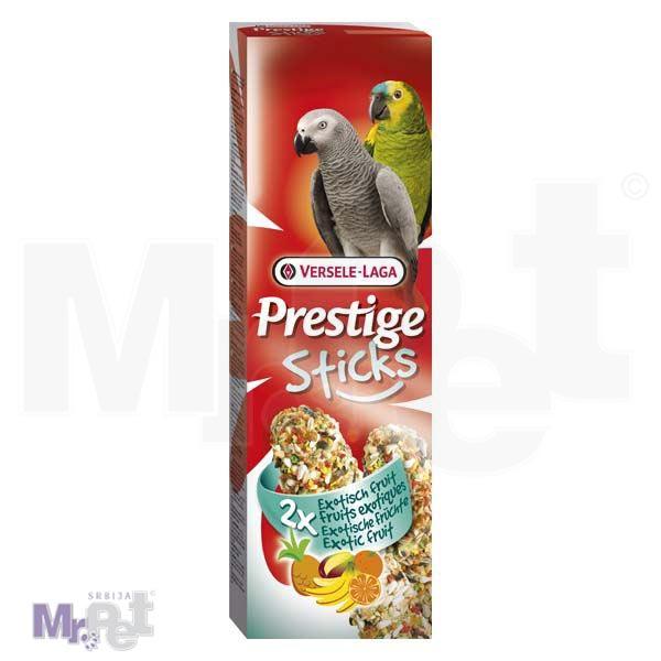 PRESTIGE poslastice za velike papagaje Sticks Parrots Exotic Fruit - 2 kom