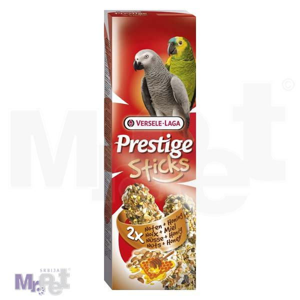 PRESTIGE poslastice za velike papagaje Sticks Parrots Nuts i Honey - 2 kom