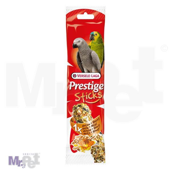 PRESTIGE poslastice za velike papagaje Sticks Parrots Nuts i Honey