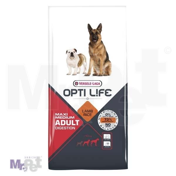 OPTI LIFE hrana za pse Adult Digestion Medium i Maxi