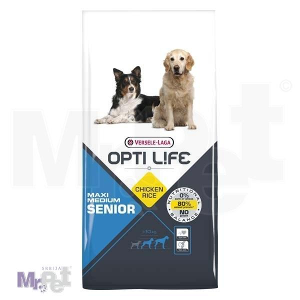 OPTI LIFE hrana za pse Senior Medium i Maxi
