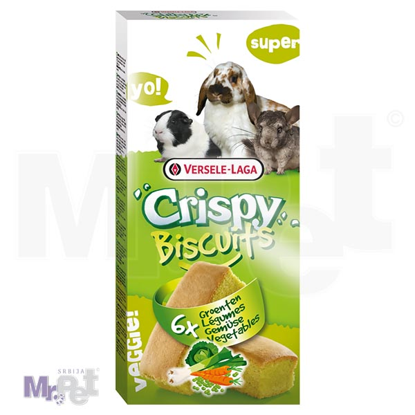 CRISPY poslastice za glodare Biscuits Vegetables 6 kom