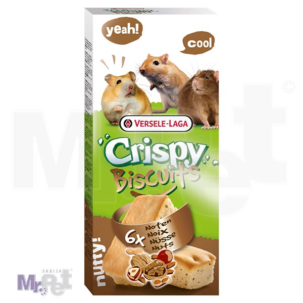 CRISPY poslastice za glodare Biscuits Mammals Nuts 6 kom