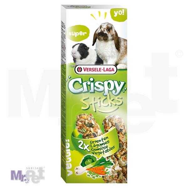 CRISPY poslastice za glodare Sticks Rabbits-Guinea Pigs Vegetables 2 kom 110 g