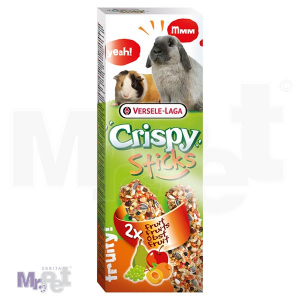 CRISPY poslastice za glodare Sticks Rabbits-Guinea Pigs Fruit 2 kom 110 g