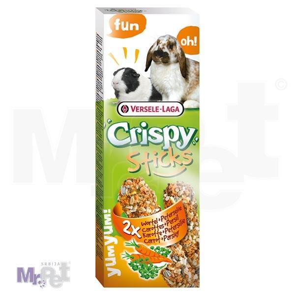 CRISPY poslastice za glodare Sticks Rabbits-Guinea Pigs Carrot i Parsley 2 kom 110 g