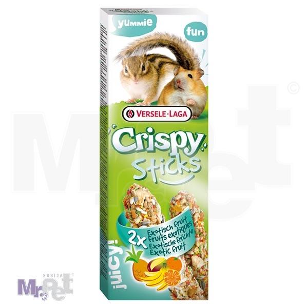 CRISPY poslastice za glodare Sticks Hamsters-Squirrels Exotic Fruit 2 kom 110 g