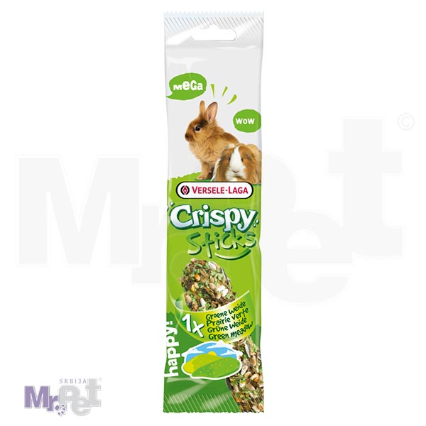 "CRISPY poslastice za glodare Mega Sticks Rabbits-Guinea Pigs ""Green Meadow"" 2 kom"