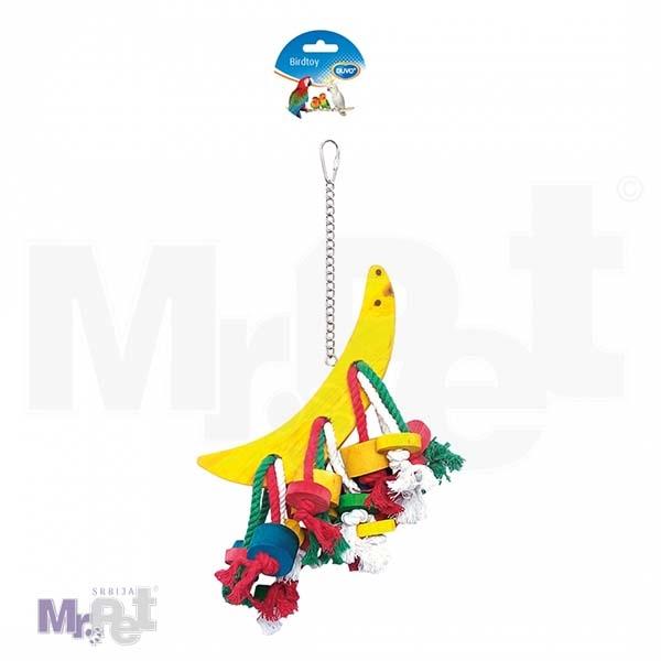 DUVO igračka za ptice polumesec na kanapu i kocke