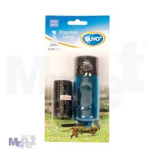 DUVO dispenzer za higijenske kesice za pse sa lampom, 2 x 20 kom